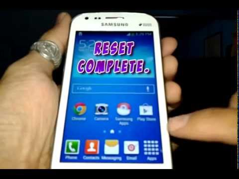 How To Reset A Samsung GT-S7582 (Galaxy S Duos 2)
