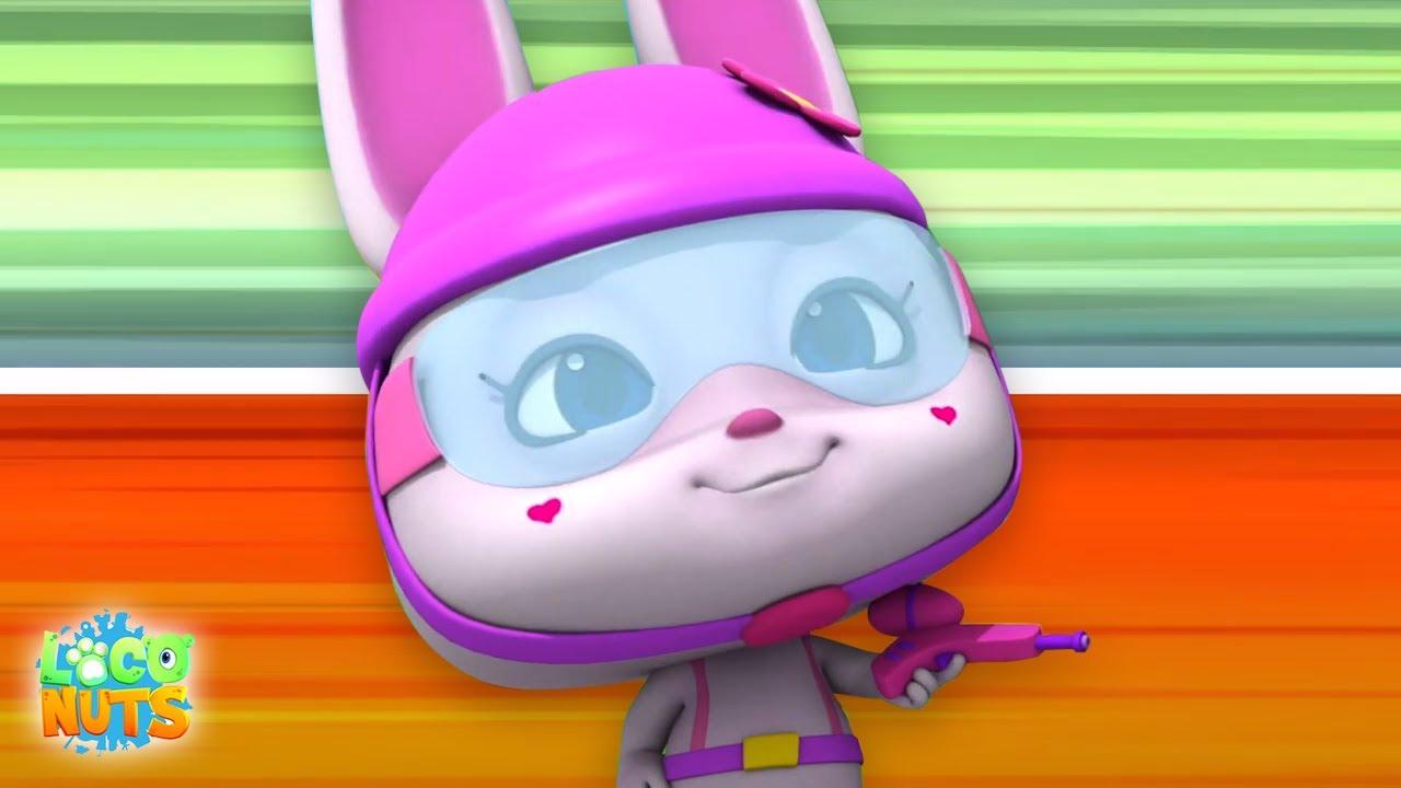 пейнтбольный бой   детские видео   веселые   Loco Nuts Russia   мультфильмы для детей