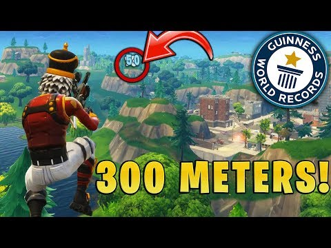 WORLD RECORD LONGEST NO-SCOPE IN FORTNITE HISTORY!!! (OVER 300+ METERS!)