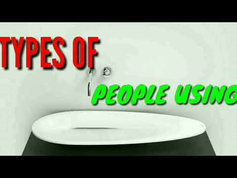 Types Of People Using Wash Basin