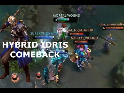 HYBRID IDRIS COMEBACK! Vainglory 5v5