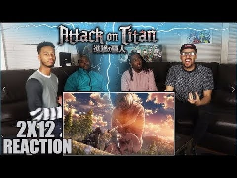 """Attack On Titan 2x12 """"Scream"""" REACTION/REVIEW (REUPLOAD)"""