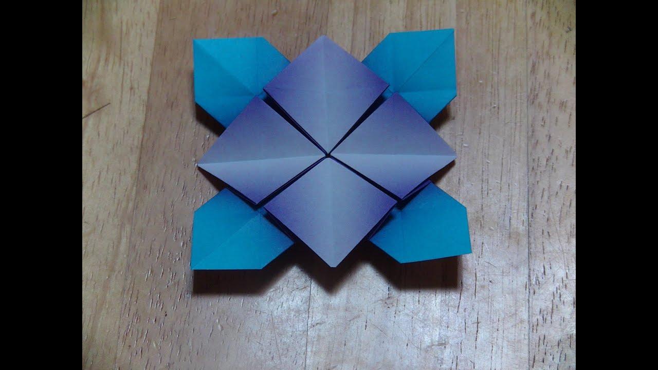 すべての折り紙 折り紙菊の折り方 : ... の折り方(A) - YouTube