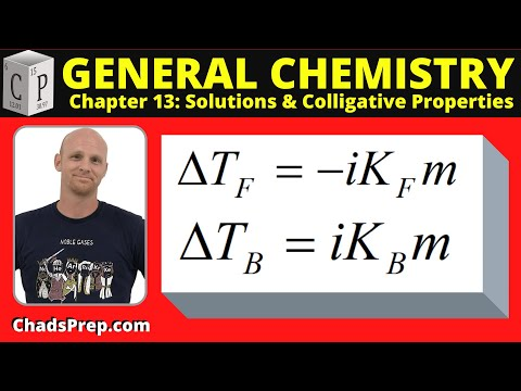 13.2 Calculations Involving Freezing Point Depression And Boiling Point Elevation