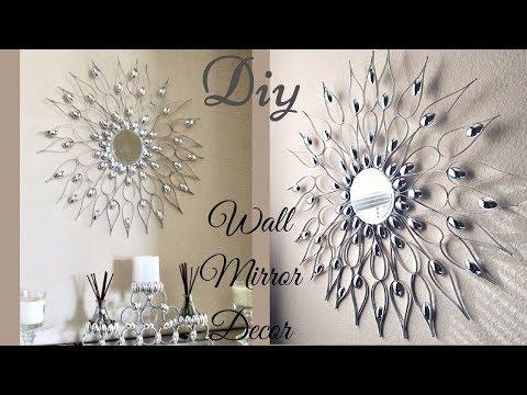 Diy Quick and Easy Glam Wall Mirror Decor| Wall Decorating Idea! thumbnail