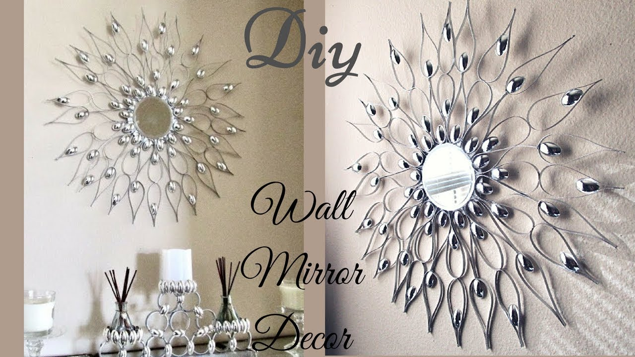 Diy Quick and Easy Glam Wall Mirror Decor| Wall Decorating ...