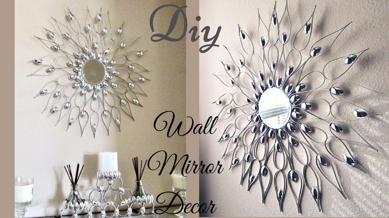 Diy Quick And Easy Glam Wall Mirror Decor Decorating Idea