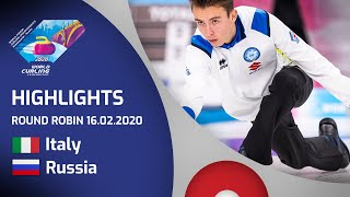 HIGHLIGHTS: Italy v Russia - Men's round robin - World Junior Curling Championships 2020