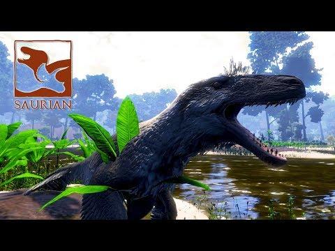 Saurian #01 - Primeiras Impressões, Sobrevivendo de Dakotaraptor (Gameplay PT/BR)