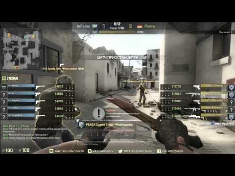 Penta Sports vs  inFame, ProSeries S11 map 2 dust2
