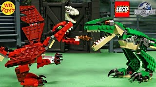 New Lego Creator Red Creatures Dragon Vs Indominus Rex Jurassic World Speed Build Unboxing 31032