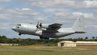 Lockheed C-130E Hercules Swedish Air Force departure on Monday RIAT 2014 Air Show