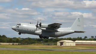 Lockheed C-130E Hercules Swedish Air Force departure on Monday RIAT 2014 Air Show