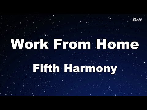 Work From Home - Fifth Harmony Karaoke 【With Guide Melody】Instrumental