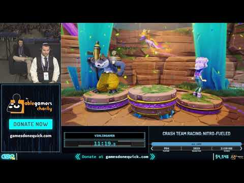 Crash Team Racing By ViolinGamer_ In 1:12:50 - GDQx 2019