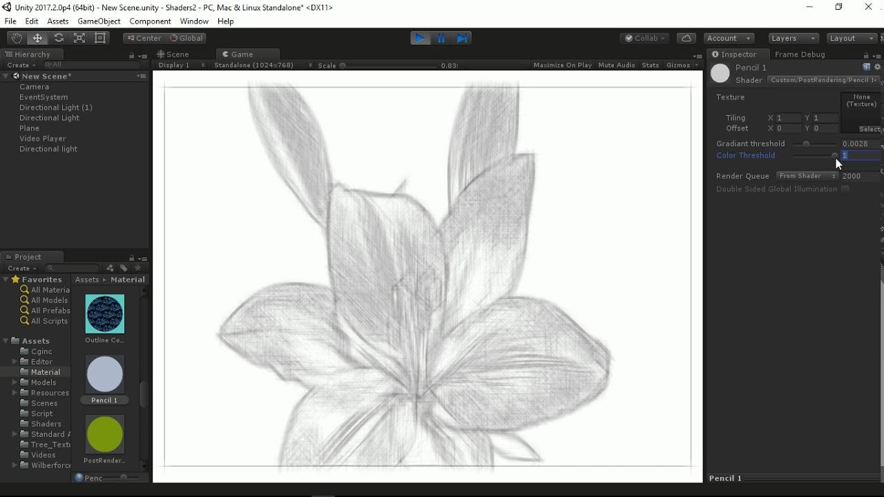 Unity Shader : Pencil effect