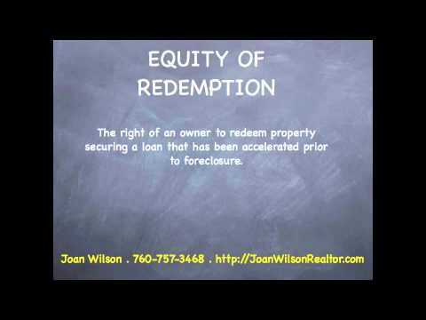 Equity of Redemption - Real Estate Terms