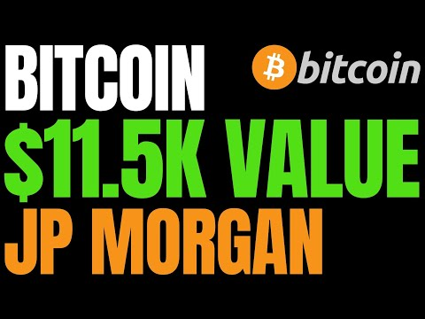 JP Morgan Says Bitcoin Is 25% Below Its Intrinsic Value Of Around $11,500 | BTC Risk Falling To $8K