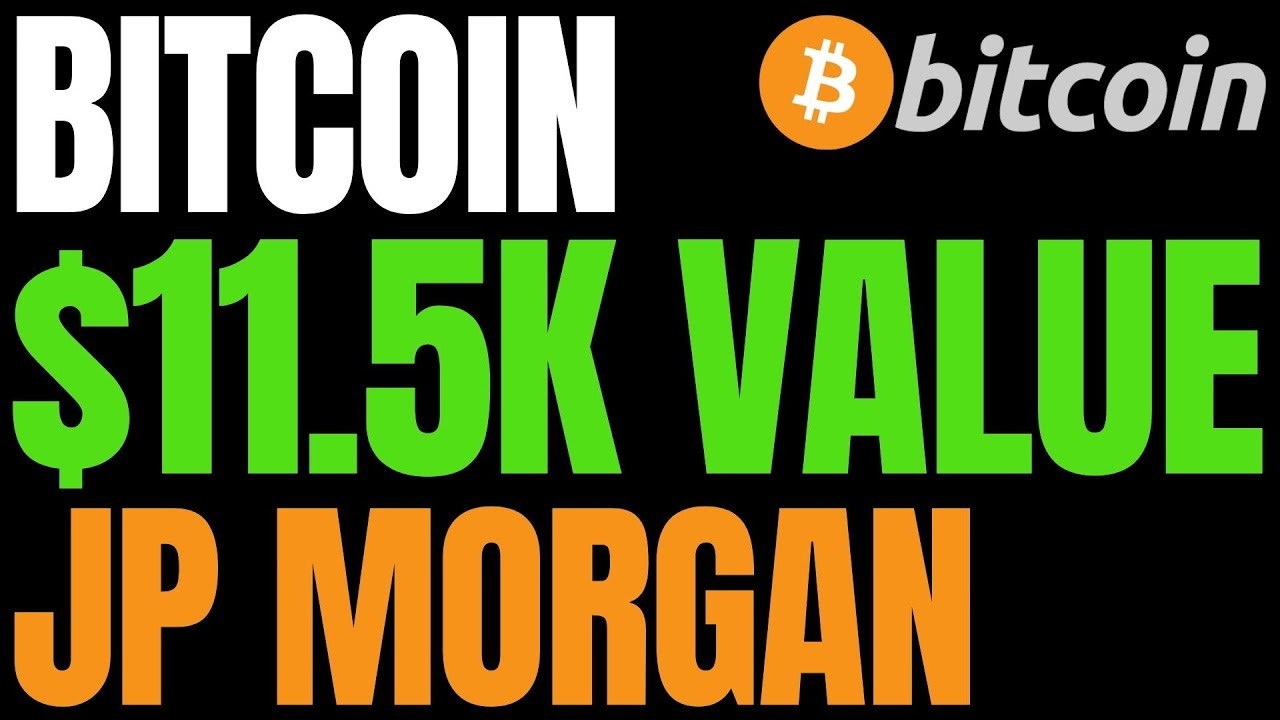JP Morgan Says Bitcoin Is 25% Below Its Intrinsic Value Of Around $11,500 | BTC Risk Falling to $8K 17