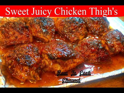 🍛🙋💕how-to-make-oven-baked-sweet-juicy-glazed-chicken-thighs