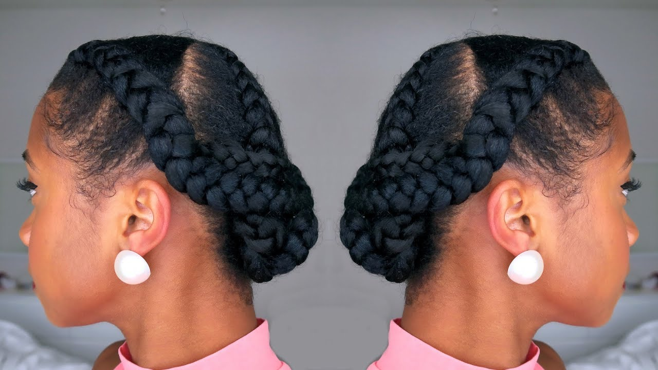 How To Snatch Yo Hair Back Into A Simple Braided Protective Hairstyle Youtube