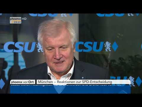 Statement von Horst Seehofer zum Parteitag der SPD am 21.01.18