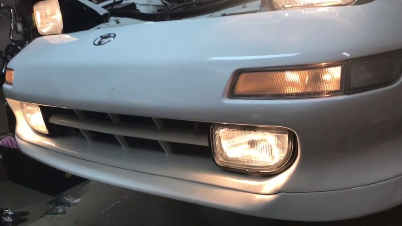 Diy Toyota Mr2 Sw20 Fix Strip Fog Lights Bolts Youtube Thread How Do You Wire The