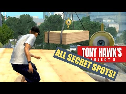 Tony Hawk's Project 8 - Secret Spots! (PS3 Gameplay)
