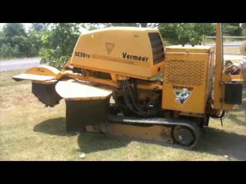 Vermeer Stump Grinder >> Vermeer SC50TX Stump Grinder - YouTube