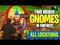 "HOW TO: ""Search the *HIDDEN GNOME* in different Named Locations"" in Fortnite! - Week 7 Challenges"
