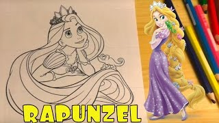 Rapunzel from Disney Tangled coloring page  Free
