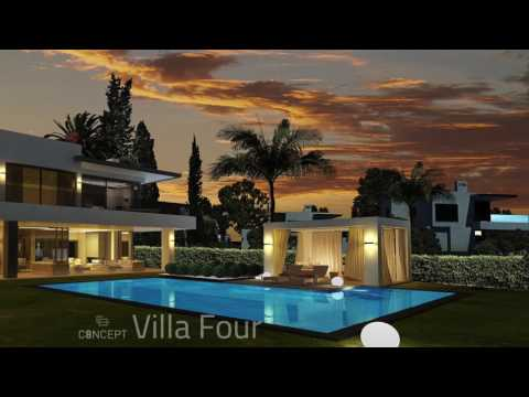 Golden Mile modern villas with sea views in a gated community