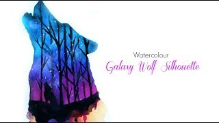 Galaxy Wolf Silhouette Watercolour YouTube