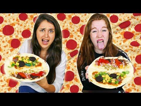 PIZZA CHALLENGE AVEC PTIKOUIK  QUI AURA LES CROQUETTES POUR CHAT ?