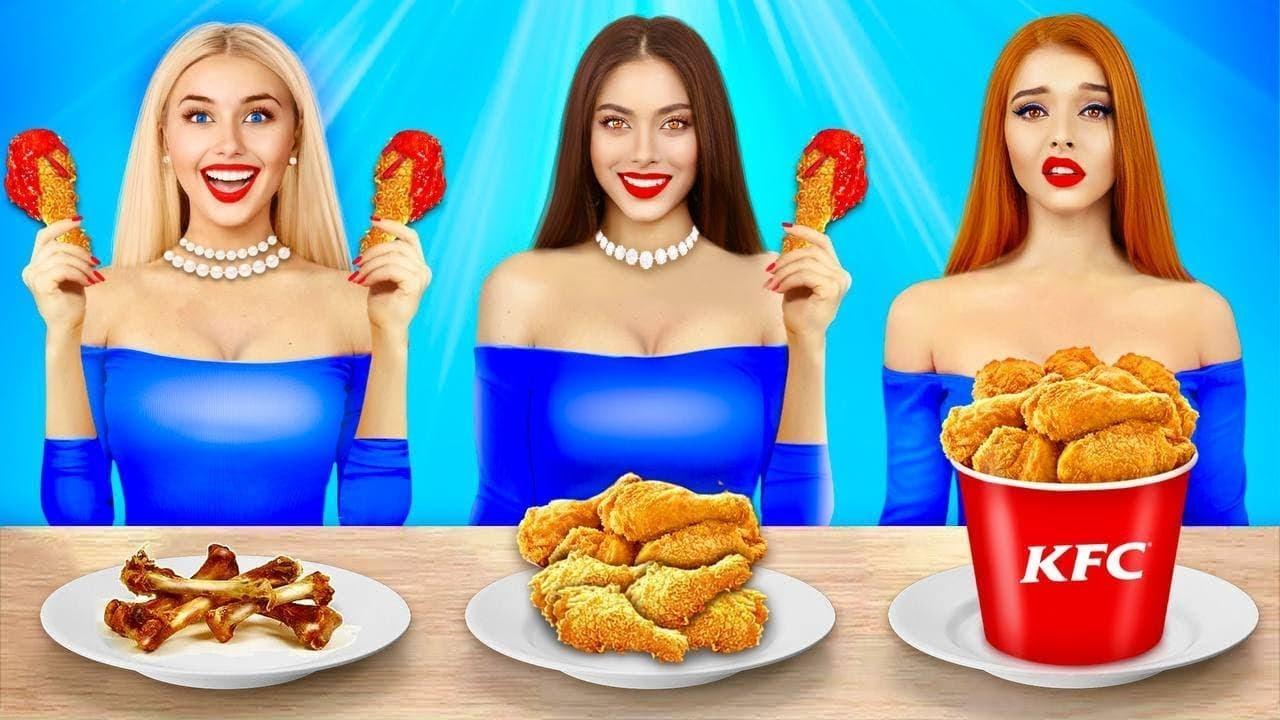Tantangan Makan Tanpa VS Satu VS Dua Tangan | Pertarungan Epic dengan Makanan oleh RATATA BOOM