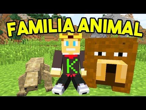 Minecraft Ao Vivo: FAMÍLIA ANIMAL DE INVERNO #1