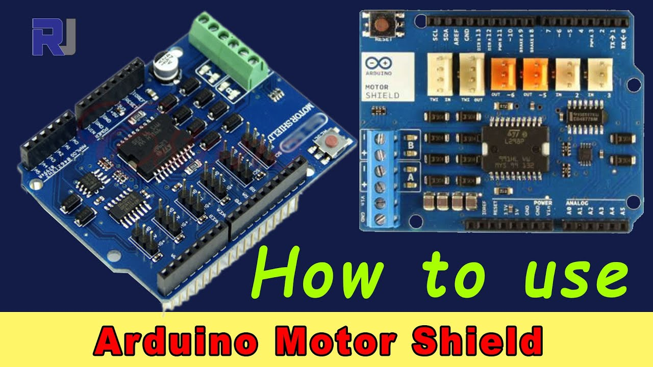 Using Arduino Motor Shield with L298P chip - Robojax