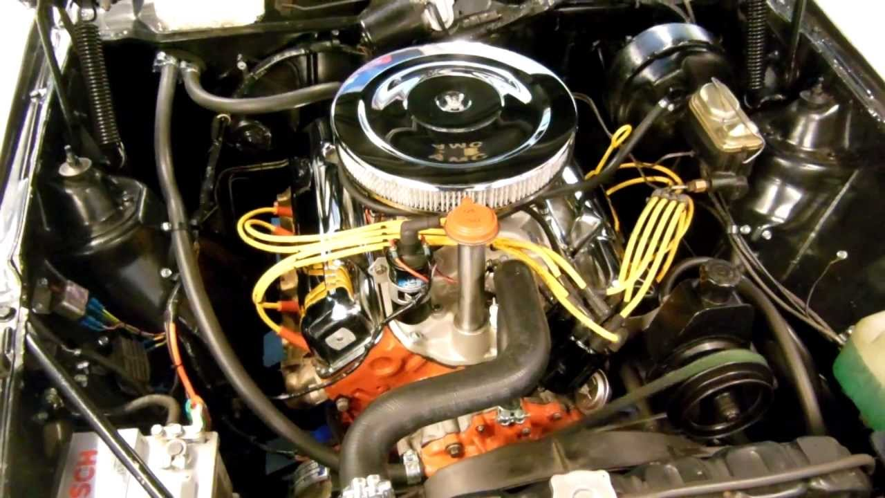 1973 Javelin AMC 360 Engine Cold Start Idle Rev - YouTube