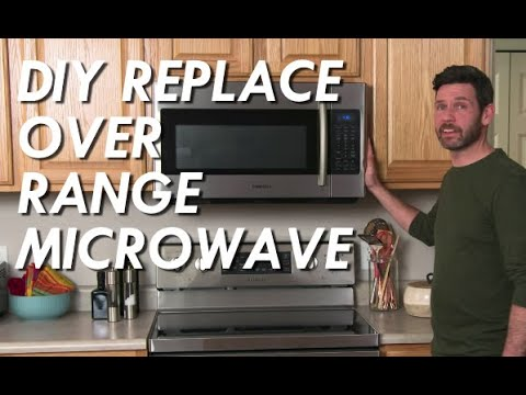 how to install over range microwave hood exhaust fan diy home improvement kitchen samsung ge 1 7