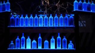 Changing Color Effects Lighted Bar Bottle Shelf - Led Powered