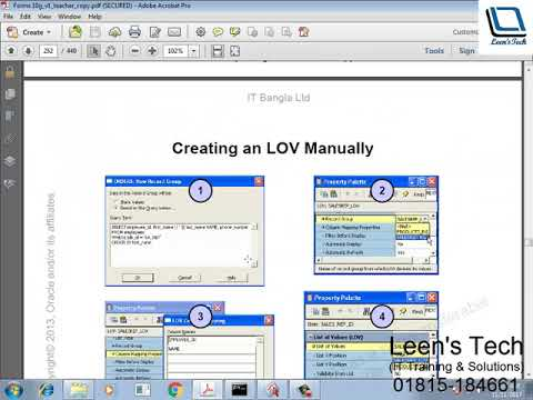 Oracle Forms 10g Tutorial in Bangla: Creating an LOV Manually
