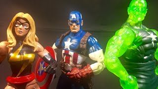 Marvel Legends Target Exclusive 3 Pack (Captain America, Ms Marvel and Radioactive Man) Thumbnail