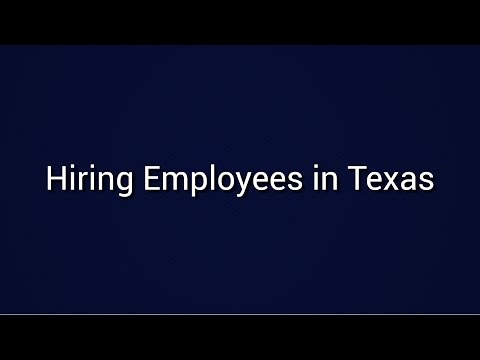Hiring Employees in Texas