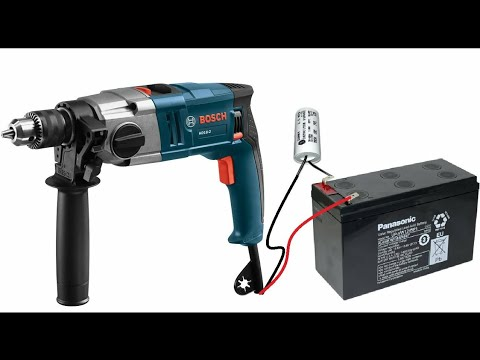 Download Convert 220v ac Universal Motor drill to 12V DC Motor drill machine