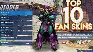 TOP 10 OVERWATCH FAN SKINS! #5