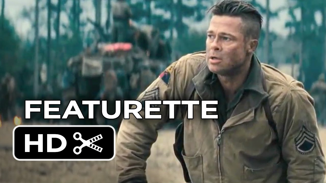 Fury Featurette Recreating Hell Brad Pitt Logan Lerman - New official trailer fury starring brad pitt