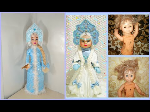 Кокошник для куклы снегурочки своими руками
