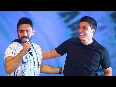 Khaled Mounib - Naweely Ala Eih LIVE From Tamer Hosny's New Alamein Concert 2019
