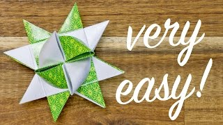 Origami Froebel Star making, easy Christmas Star tutorial
