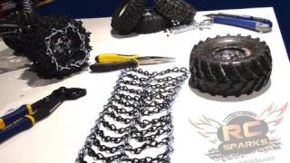 RC ADVENTURES - Cheap Tire Chains - Tutorial - How To DIY - Snow, Ice, Mud, Bogging